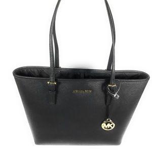 NWT Michael Kors Jet Set Travel Carryall Black Bag